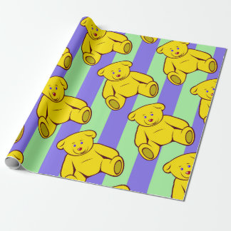 Vector teddy bear wrapping paper