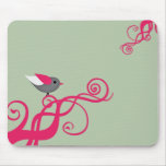 Vector tree with Bird Mouse Pad