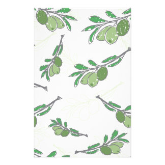 Vector vintage hand drawn olive branch stationery