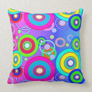 Vector Vivid Circles Cushion