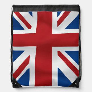 Vector  Waving British National Flag Drawstring Bag