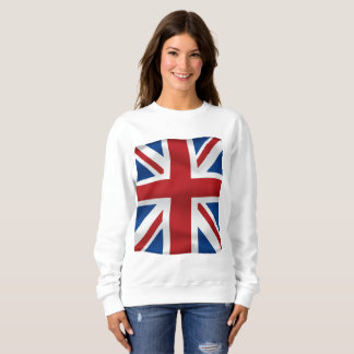 Vector  Waving British National Flag Sweatshirt