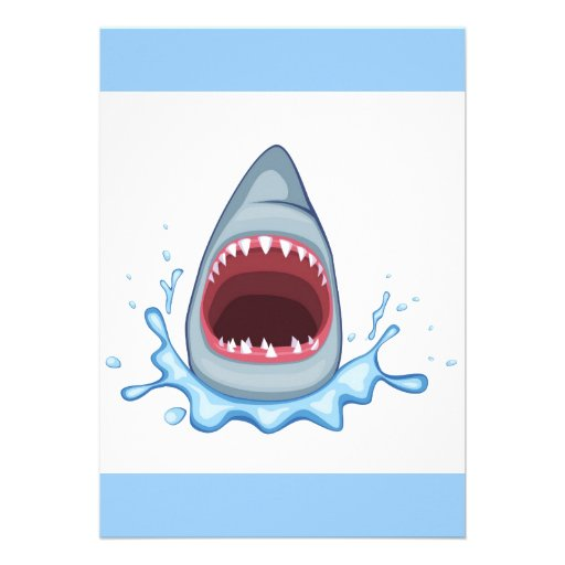 Vectorstock_383155 Cartoon Shark Teeth Hungry 5x7 Paper