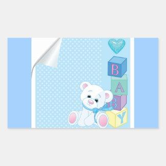 vectorstock_82298 Blue baby bear newborns Stickers