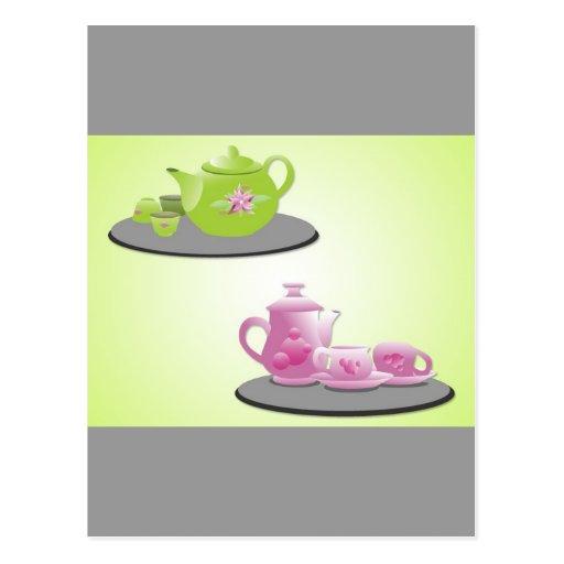 vectorvaco_tea_set_vectors_09112001_large postcard