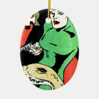 Veda the Cobra Woman Ceramic Oval Decoration