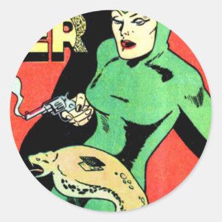 Veda the Cobra Woman Classic Round Sticker