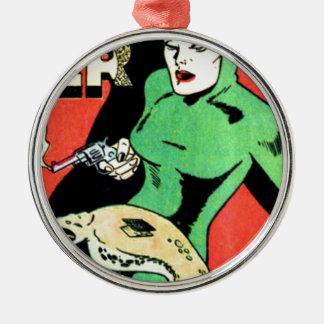 Veda the Cobra Woman Metal Ornament