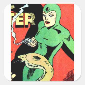 Veda the Cobra Woman Square Sticker
