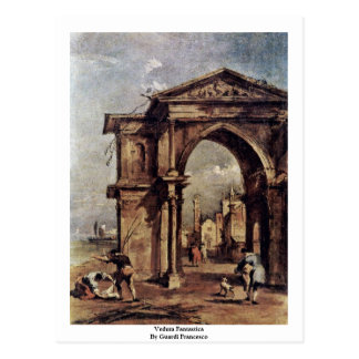 Veduta Fantastica By Guardi Francesco Postcard