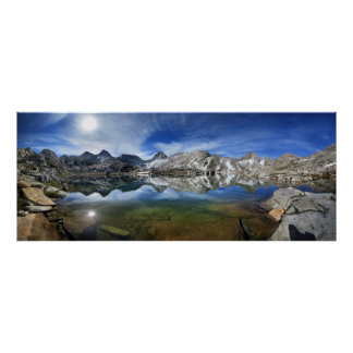 Vee Lake and Seven Gables Panorama 2 - Sierra Poster