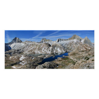 Vee Lake from High Above - Sierra Poster