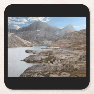 Vee Lake, Sierras Square Paper Coaster