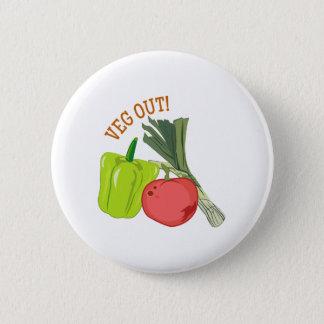 Veg Out 6 Cm Round Badge