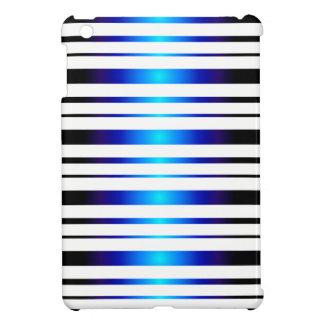 Vega Blue Glowing Stripes Pattern iPad Mini Case