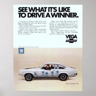 Vega Vintage Advertisement Poster