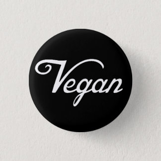 Vegan 3 Cm Round Badge