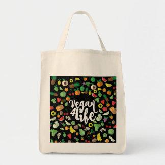 Vegan 4 Life Grocery bag