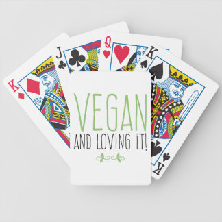 Vegan and loving it! bicycle playing cards