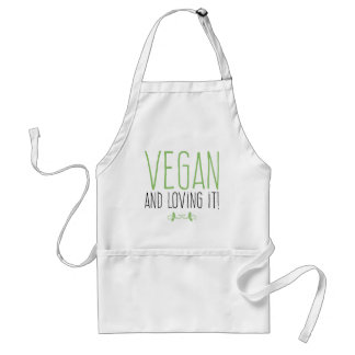 Vegan and loving it! standard apron