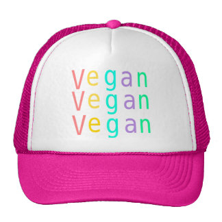 Vegan. animal rights. trucker hat. hot pink. cap