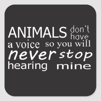 Vegan 'Animals don't have a voice...' stickers