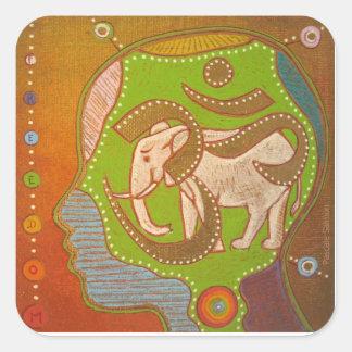Vegan Aum Square Sticker