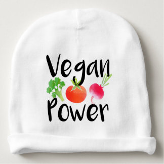 """Vegan Baby Powers"" Baby Beanie"