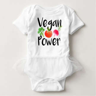 """Vegan Baby Powers"" Baby Bodysuit"