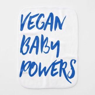 """Vegan Baby Powers"" baby Burp Cloth"