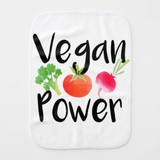 """""""Vegan Baby Powers"""" Burp Cloth"""