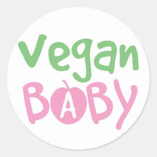 Vegan Baby Round Sticker
