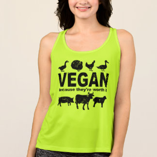 VEGAN because they're worth it (blk) Singlet