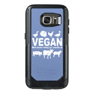 VEGAN because they're worth it (wht) OtterBox Samsung Galaxy S7 Case