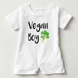 """""""Vegan Boy"""" broccoli baby Baby Bodysuit"""