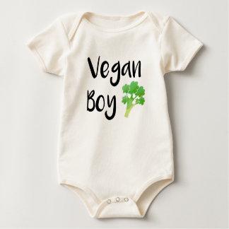 """""""Vegan Boy"""" broccoli baby bodysuit"""