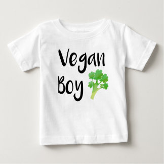 """Vegan Boy"" broccoli baby shirt"
