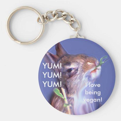 Vegan Bunny Keychains