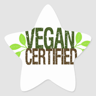 Vegan Certified Star Sticker
