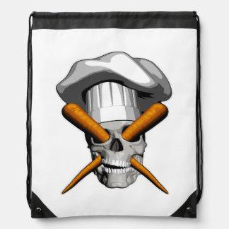 Vegan Chef Skull Cinch Bag