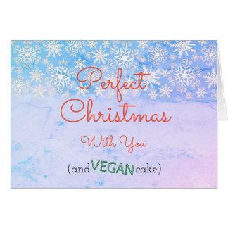Vegan Christmas Greeting card for vegan