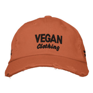 VEGAN Clothing Distressed Embroidered Hats