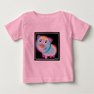 Vegan coloured pig baby T-Shirt