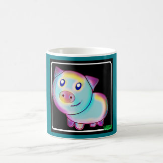 Vegan coloured pig coffee mug