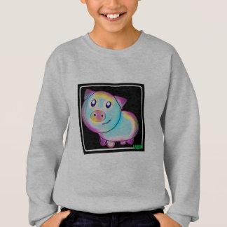Vegan coloured pig sweatshirt