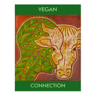 vegan connection postcard