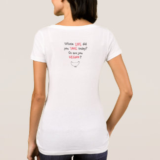 """Vegan"" Cow, chicken & Quote T-Shirt"