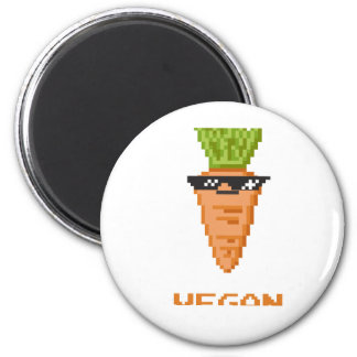 """Vegan """"Deal With It"""" Carrot Magnet"""