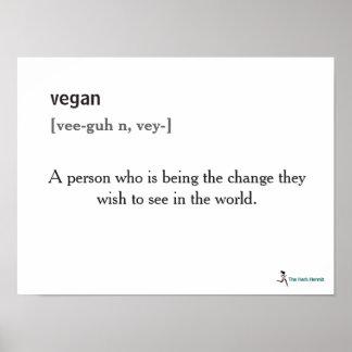 Vegan Definition Poster