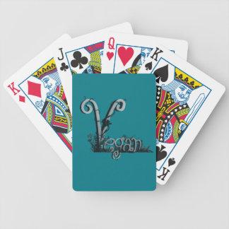 vegan design bicycle playing cards